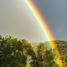 Thomas R Fletcher - Rainbow over Barn