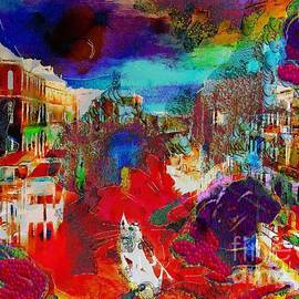 Catherine Lott - Rainbow Splattered Abstracts In Italy