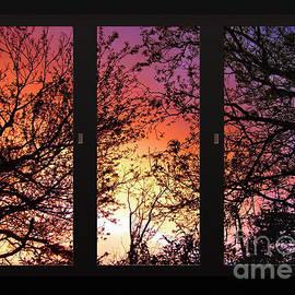 Kaye Menner - Rainbow Sunset Through Your Window