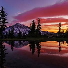 Mike Reid - Rainier Sunrise Reflection #1