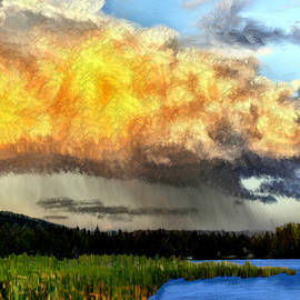 Bruce Nutting - Raining at Sunset