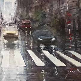 Maroo Art - Rainy day - Street scene