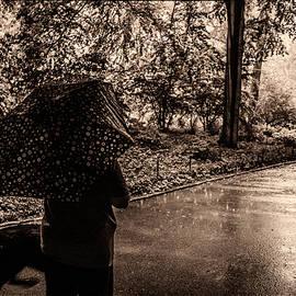 Madeline Ellis - Rainy Day - Woman and Dog