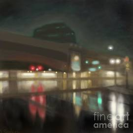 Alexander Sydney - Rainy Night at Newark Penn Station
