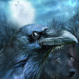 Carol Cavalaris - Raven and Wolf - In The Moonlight
