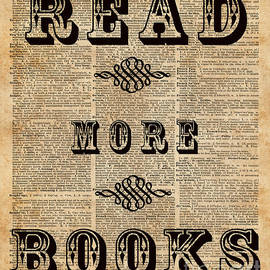 Jacob Kuch - Read More Book Illustration Dictionary Art Library Home Decor
