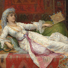 Reclining Turkish Woman - Emile Henri La Porte