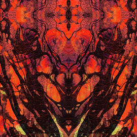 Red Abstract Art - Heart Matters - Sharon Cummings - Sharon Cummings