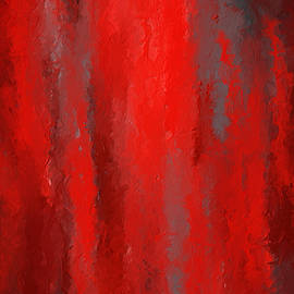 Lourry Legarde - Red And Bold - Red and Gray Art