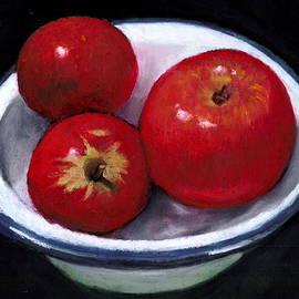 Joyce Geleynse - Red Apples in Enamel Bowl