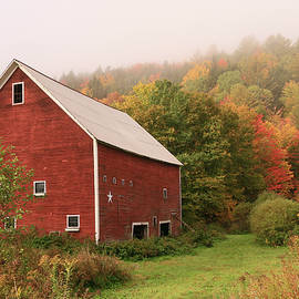 Allen Beatty - Red Barn Among the Foliage # 2