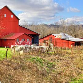 William Sturgell - Red Barn and Blue Skies