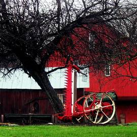 R A W M   - Red Barn and Horse Drawn Sickle Bar Mower