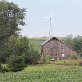 Kathy Krause - Red Barn and Wind Turbine