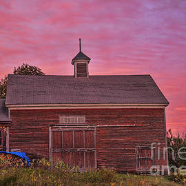Alana Ranney - Red Barn at Sunset