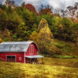 Debra and Dave Vanderlaan - Red Barn in Autumn