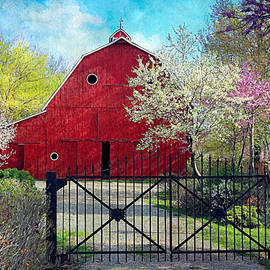 Anna Louise - Red Barn in Spring