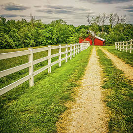 Peggy Franz - Red Barn on Country Road