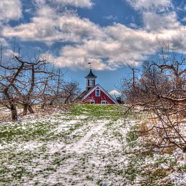 Joann Vitali - Red Barn on Farm in Winter
