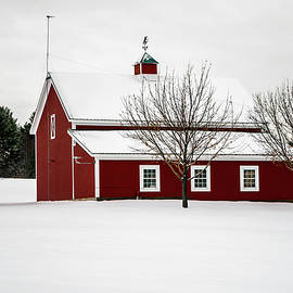 Alan Brown - Red Barn Snow day