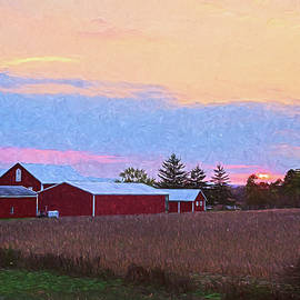 Amy Jackson - Red Barns at Sunset