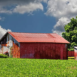 William Sturgell - Red Barns, Green Fields, and Cloudy Skies
