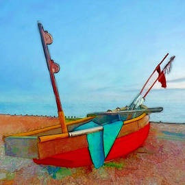 Alan Armstrong - # 1 Red Fishing Boat Ashore UK