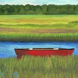 Arlene Crafton - Red Boat - Assateague Channel