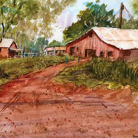 Barry Jones - Red Clay Farm - Watercolor
