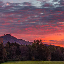 Dmytro Korol - Red Dawn over the Hohenzollern Castle