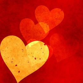 Georgiana Romanovna - Red Grunge Hearts
