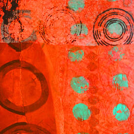 Nancy Merkle - Red Line Abstract