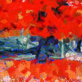 Sir Josef  Putsche - Red Love In Spring - Tree - Painting