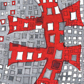 Sandra Church - Red On Cool Gray