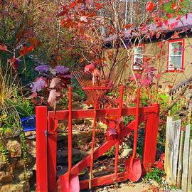 Carla Parris - Red Orange Garden Gate