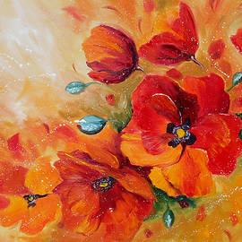 Ekaterina Chernova - Red poppies impressionist abstract painting by artist Ekaterina Chernova
