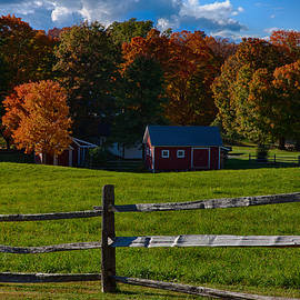 Jeff Folger - Red sheds and orange fall foliage
