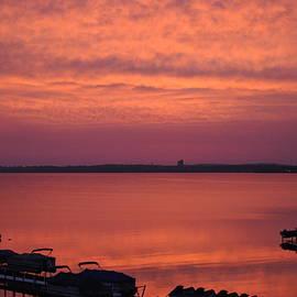D Keller - Red Sky Sunrise of Lake Michigan in Traverse City