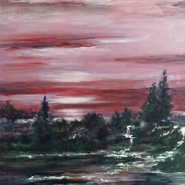 Laila Awad Jamaleldin - Red sun set