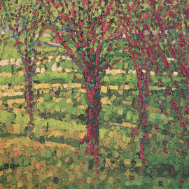 Anna Wolska - Red trees