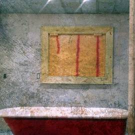 Kathy Barney - Red Tub and Gray Texture # 3