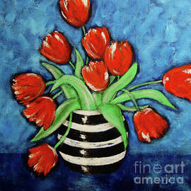 Cheryl Rose - Red Tulips in a Vase