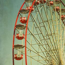 Isabel Poulin - Red Vintage ferry wheel