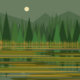 Val Arie - Reflection on a Mountain Pond