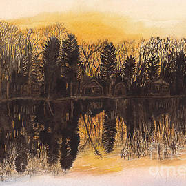 Conni Schaftenaar - Reflections at Sunset on Bitely Lake