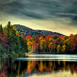 David Patterson - Reflections of Autumn on West Lake