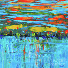 Haleh Mahbod - Reflections Sky and Landscape abstract