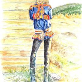 Jayne Somogy - Reindeer Boy -- Portrait of Young Laplander Man
