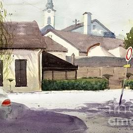 Nenad Kojic - Restaurant Carp Zemun Serbia - original watercolor art by Nenad Kojic