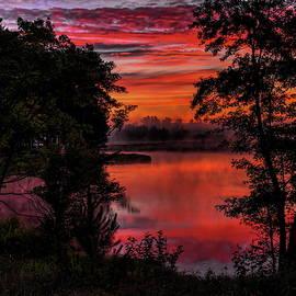Dale Kauzlaric - Rhinelander Flowage Sunrise Reflection